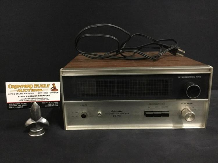A Sansui Reverberation Amplifier Model Ra 700 In Good Condit