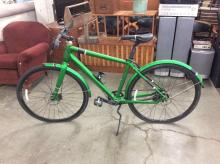 2015 green Scott Sub 10 8-speed city bicycle w/aluminum frame in good cond - Approx $1000 new
