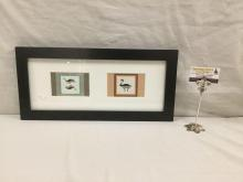 Mimbres Indian Pottery Design Serigraph set of Rabbit & Bug #'d 41/50 signed