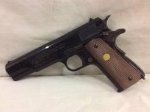 Automatic pistol caliber 45 us army model replica for shooting blanks W/ real clip