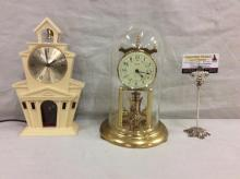 Vintage Kundo anniversary clock by Kieninger & Obergfell & electric church clock