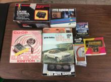 Co-Op Electronic Ignition, Auto Burglar Alarm, Pro-Teks Car Body Molding + more see pics