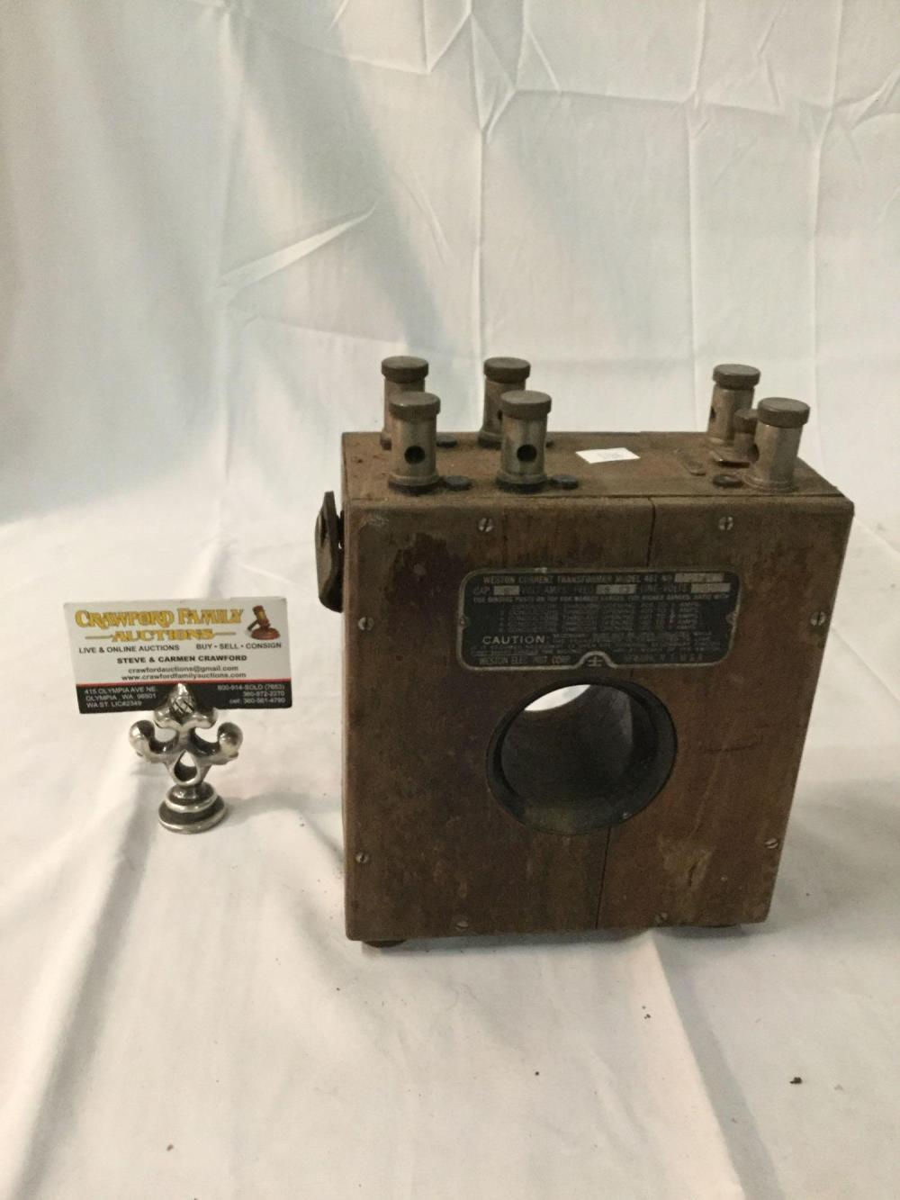 Antique Weston Current Transformer Model 461 No 2187 Made In Usa