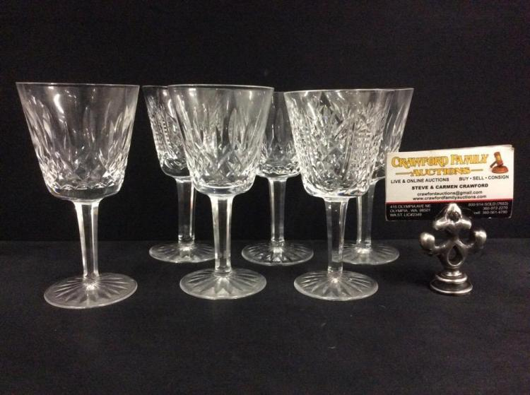 dating waterford crystal marks Vintage crystal stemware & bar glasses  set of vintage goblets on solid brass tray mexico mark  in the colleen pattern waterford crystal, .