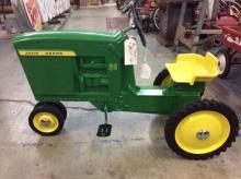A John Deere 20 pedal tractor