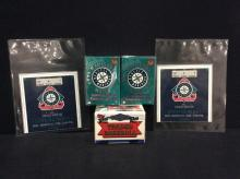 2 Tickets 1995 Mariners playoff season /2 sets of sealed 1995 mariner sets +1992 topps traded set