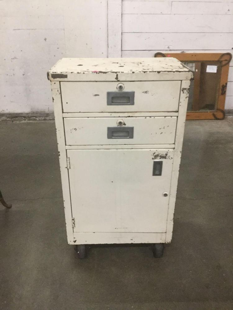 rolling kitchen cabinets vintage rolling metal storage cabinet great for the shop 1986