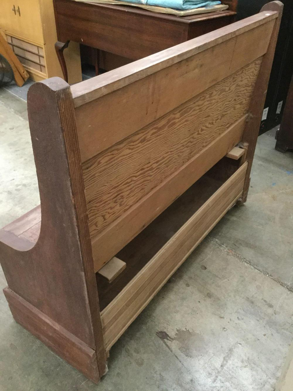 Remarkable Antique Church Style Wooden Pew Bench With Storage Seat Cjindustries Chair Design For Home Cjindustriesco