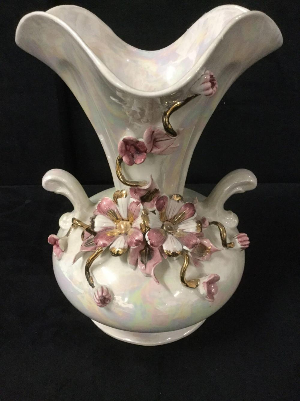 Auctionzip & Porcelain Capodimonte made in Italy flower vase with ...