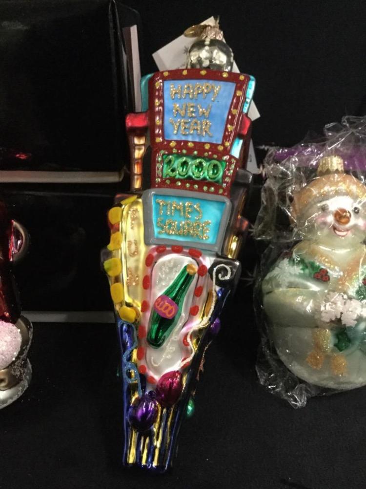 Set of three christopher radko high end christmas ornaments