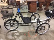 The Rover by Terra trike in good cond with helmet, basket and more - nice bike
