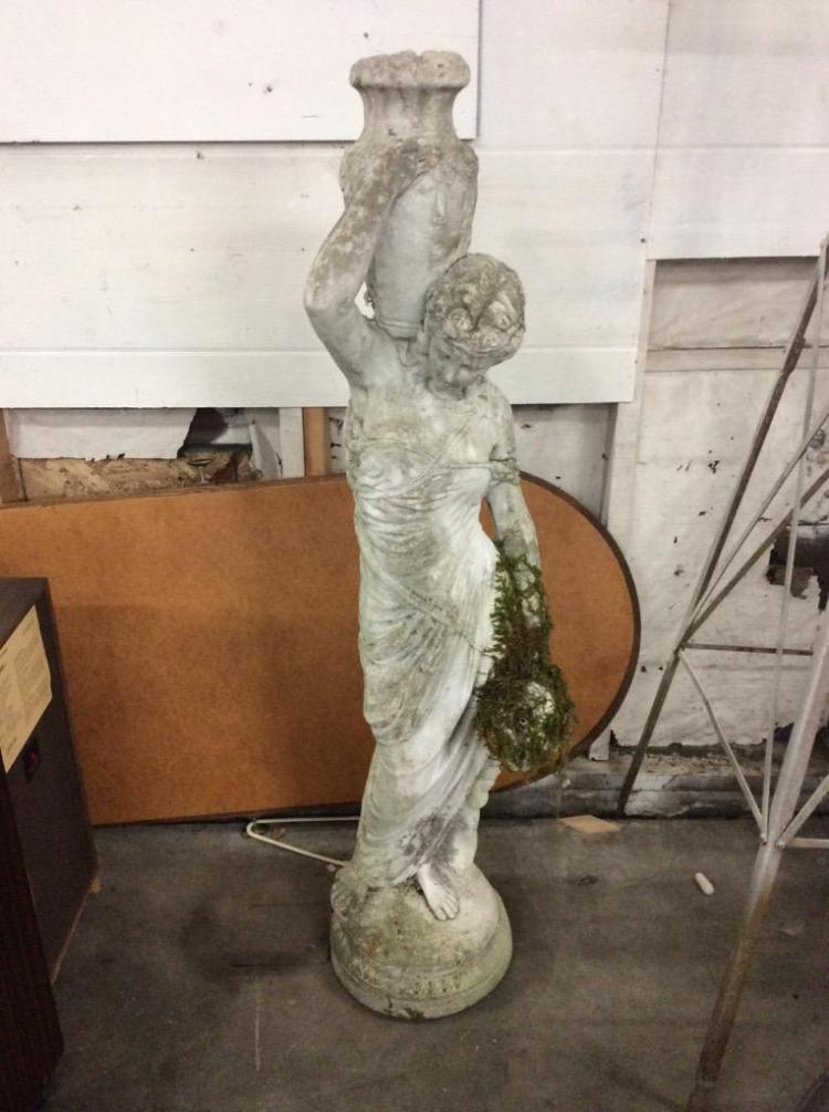 Very Heavy Cement Greek Goddess Yard Statue