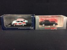 Vitesse Models 1962 Porsce 911 and a Progetto 1968 Fiat Abarth