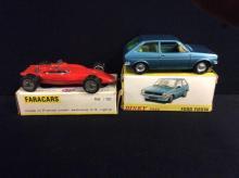Faracars Indianapolis Turbine car and a Dinky Toys Ford Fiesta