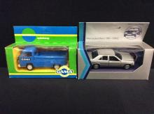 Gama models VW Bus Lieferwagen and a Gama mini Mercedes Benz 190
