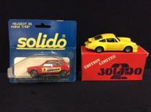 Porsche 934 and a Peugeot ZS both by Solido models
