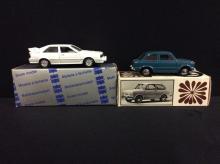 Mebe Toys Fiat 850 and a Conrad models Audi Quattro