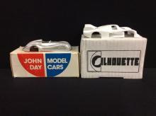 Silohette Models 1982 Rondeau 382 and a John Day Models 1939 Maserati Tripoli Stream