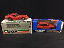 Model Box 1962 Ferrari GTO and a model car in box made in the Soviet Union