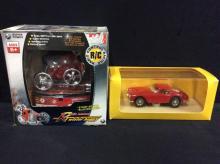 Idea 3 models 1961 Ferrari 250GT and a Super Power RC Twister Buggy
