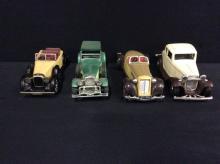 Set of 4 model cars (whithout boxes)-Matchbox, Yatming