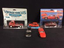 Set of 4 model cars (Matell, Ertl)