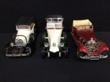 Rio models 1923 Renault, a Yatming Mercedes Carbriolet, and additional Solido model car