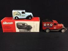 Matchbox OXO van and a Somerville models Fordson van