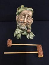 RARE Antonio Borsato Italian Porcelain hand painted figurine/bust of Fisher mans head - medium size