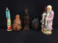 Selection of vintage figurines and collectibles from various regions and mediums - see pics