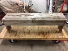 lovely primitive wooden bench