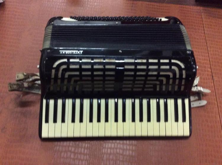 Vintage Accordion In Case By Excelsior N Y