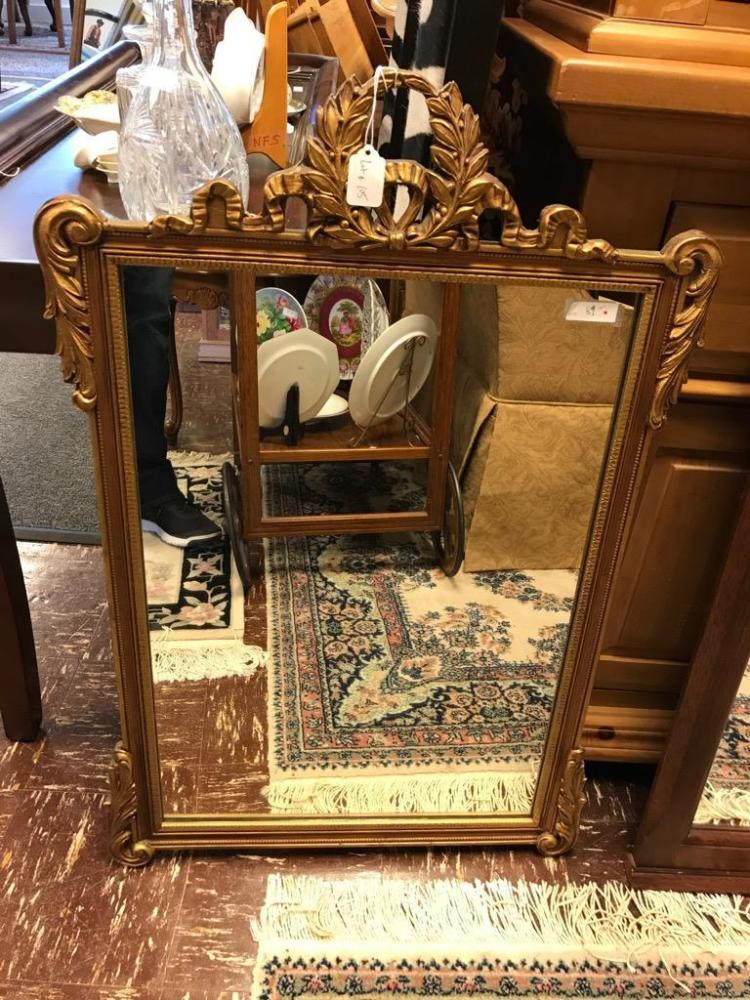 Vintage deco ornate mirror with gold wood frame in good cond for Furniture auctions uk