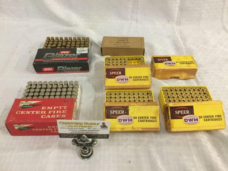 Ammo lot- CCI Blase 50 centerfire cartridges, Olin  45 caliber 50