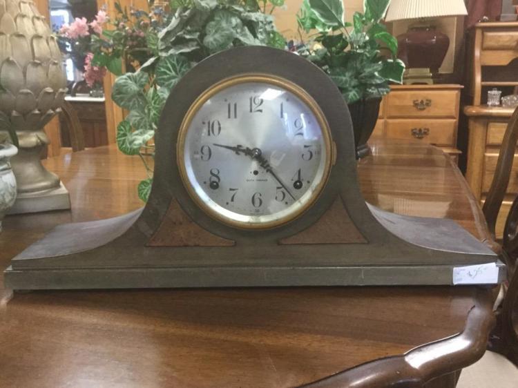 Antique Sentinel 10 Seth Thomas Time Strike Mantle Clock As