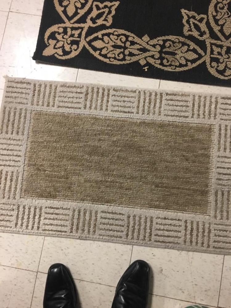 Set Of Two Rugs Rush Indoor Outdoor Black And Tan Rug Sm