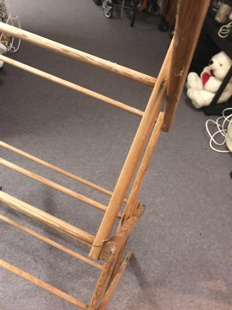 Vintage Wooden Folding Quilt Rack