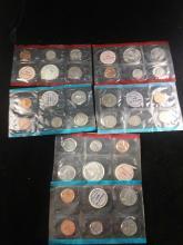 3 U.S. mint coin sets, 1969 philadelphia, 1970 Denver and 1979 Philadelphia