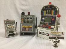 3 toy slot machines - WAOO small slots, Buckaroo slot machine & Excalibur casino slots machine