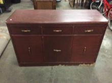 Late deco period vintage oak server/dresser in fair cond