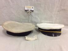 Amazing antique navy/sailors spanish ship seattle cap & sailor officers/captains cap