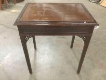 Vintage Asian end table/game table w/ classic design