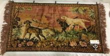 Decorative wall hanging hunting dog scene tapestry