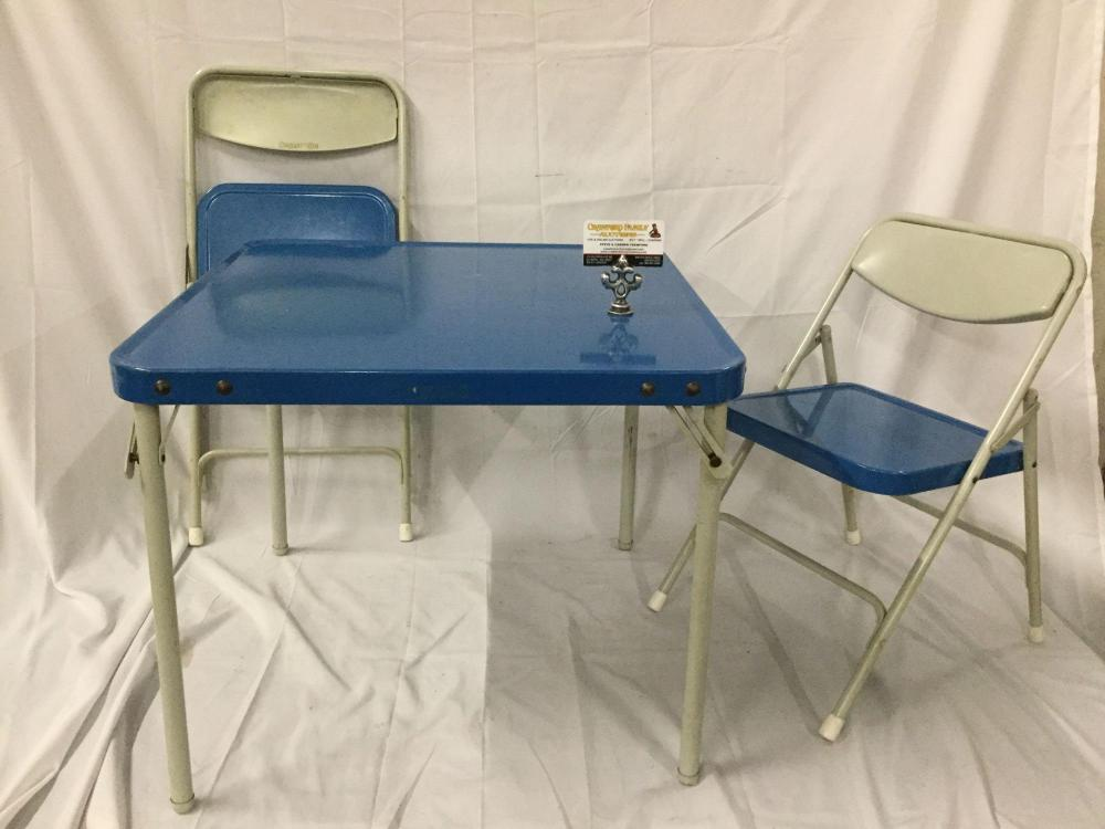 Fine Vintage Samsonite 2 Metal Folding Chairs And Folding Table Cjindustries Chair Design For Home Cjindustriesco