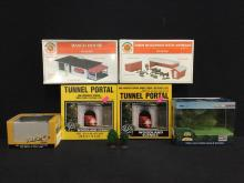 collection of Bachman and Woodland diorama accessories, all