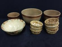 Set of Antique Earthenware bowl sets