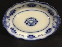 Gorgeous turn of the century flow blue platter