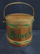 Gorgeous Antique Firken / lidded storage basket with lid