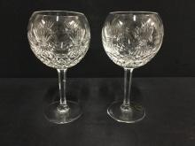 Set of two beautiful Waterford Crystal Glasses