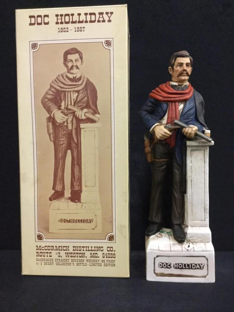 Doc holiday Mccormick Distilling Co. Decanter/ figure in box
